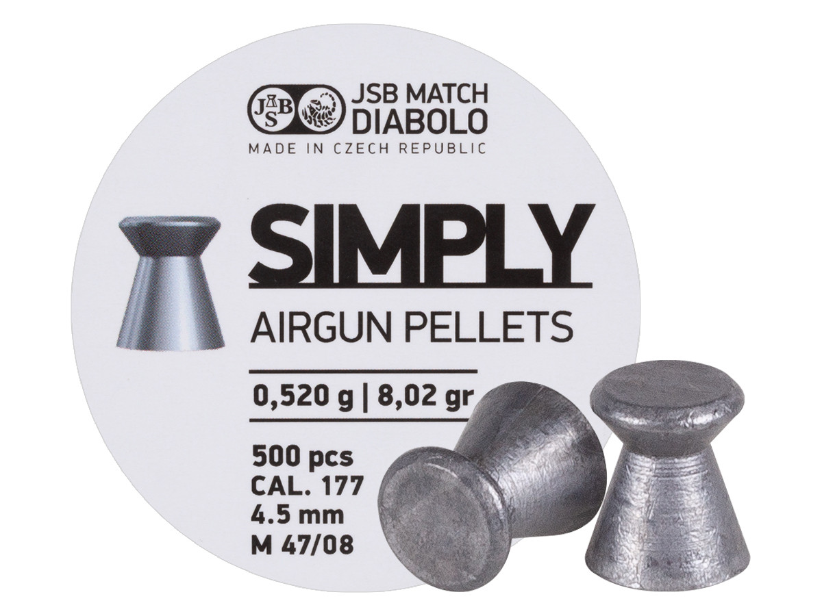 1584 JSB Simply Pellets .177 Cal, 8.02 Grains, Wadcutter, 500ct