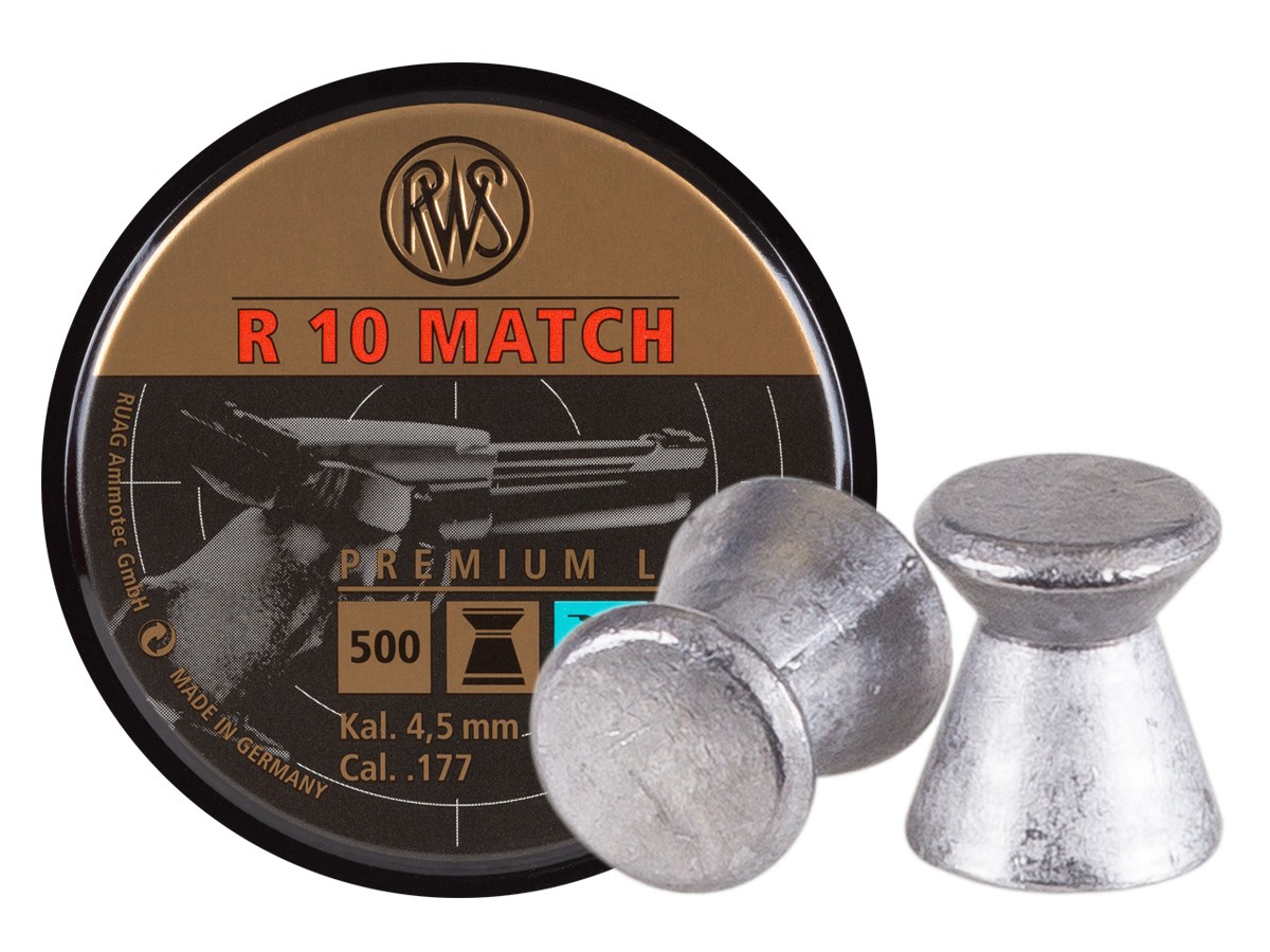 P215 RWS R-10 Match Pistol .177 Cal, 7.0 Grains, Wadcutter, 500ct
