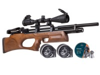 Puncher Breaker Silent Walnut Sidelever PCP Air Rifle Kit