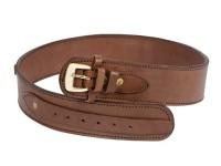 "Gun Belt, 36-40"" Waist, .38-Cal Loops, 2.5"" Wide, Chocolate Leather"